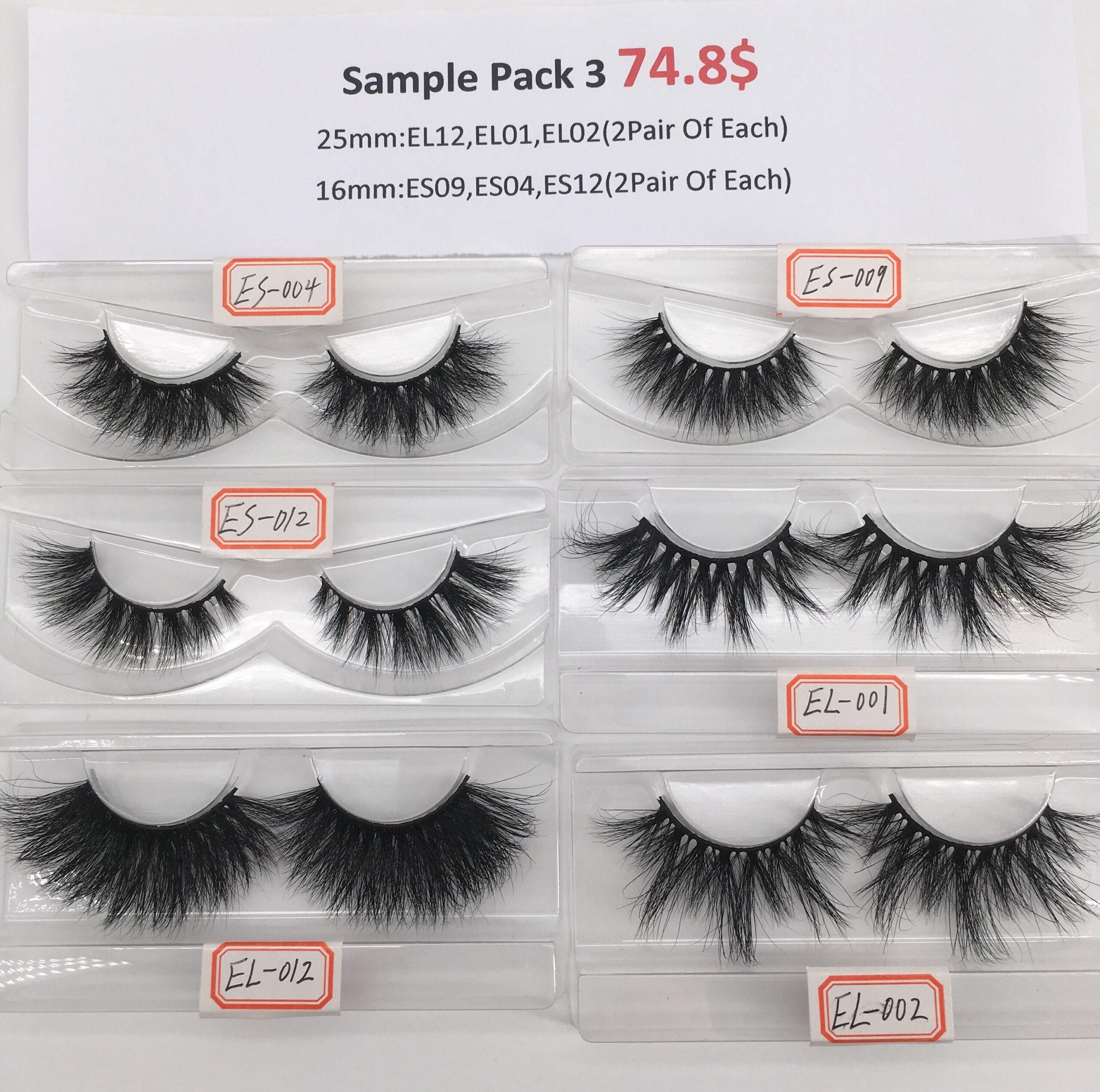 eyelash sample pack 3