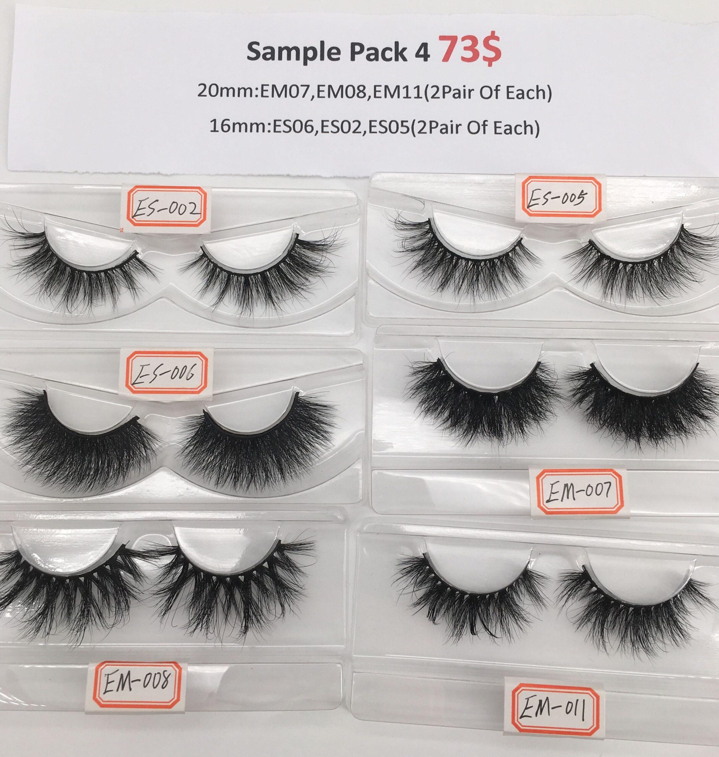 eyelash sample pack 4