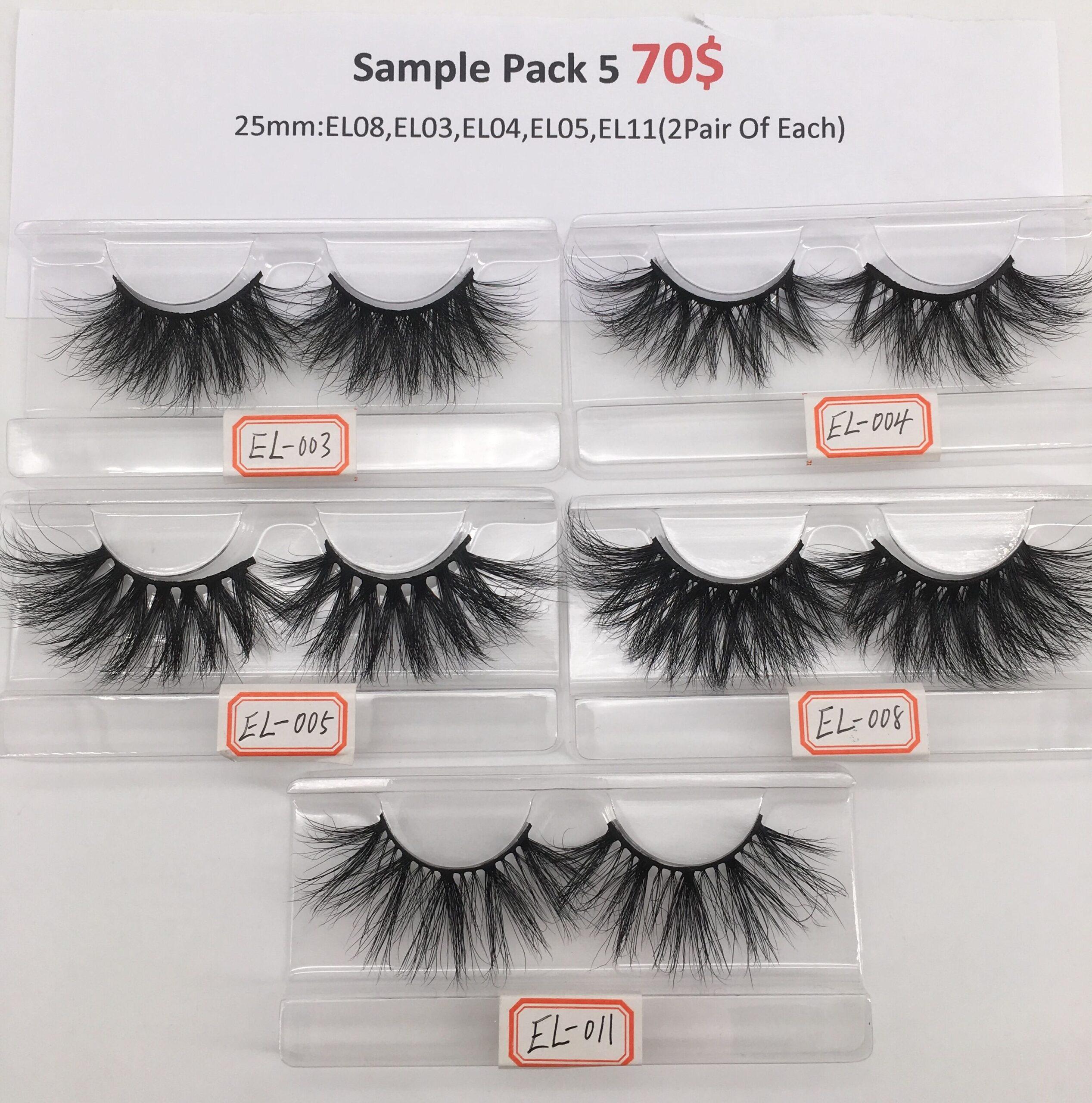 eyelash sample pack 5
