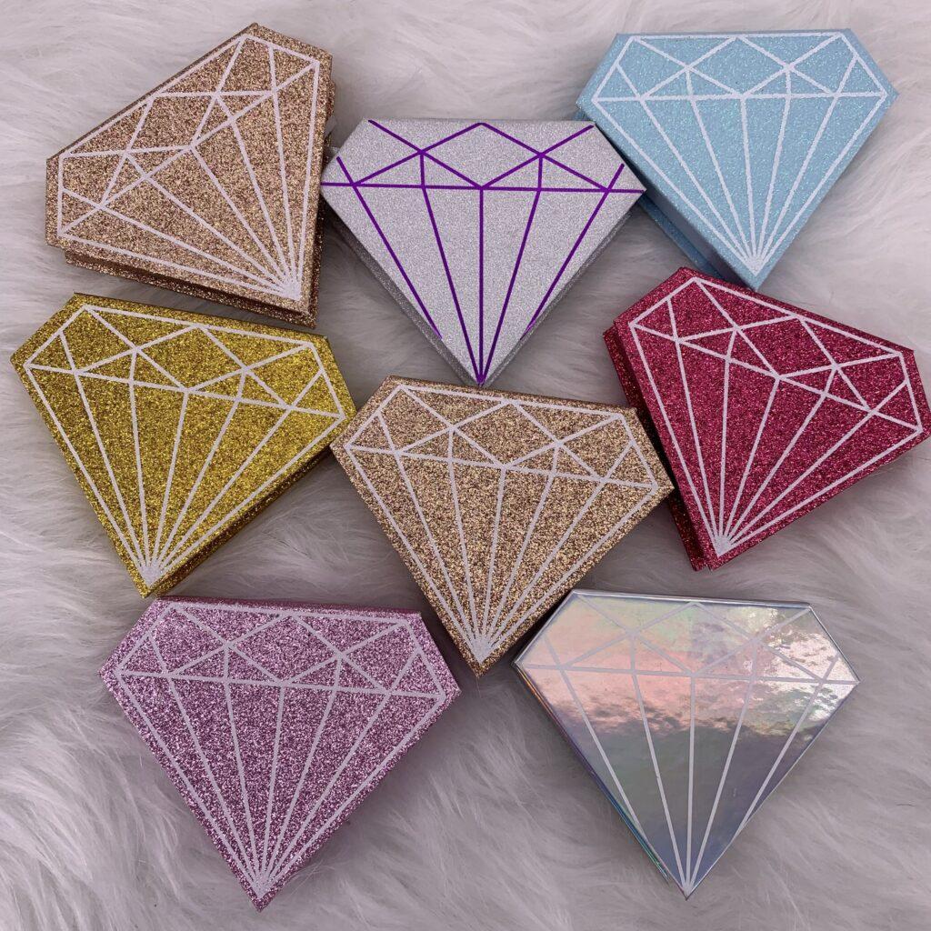 custom eyelash boxes diamond
